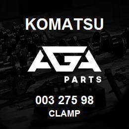 003 275 98 Komatsu Clamp | AGA Parts