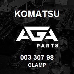 003 307 98 Komatsu Clamp | AGA Parts