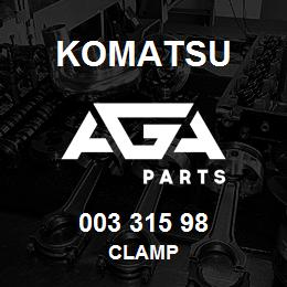 003 315 98 Komatsu Clamp | AGA Parts