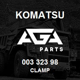 003 323 98 Komatsu Clamp | AGA Parts