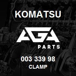 003 339 98 Komatsu Clamp   AGA Parts