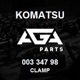 003 347 98 Komatsu Clamp | AGA Parts