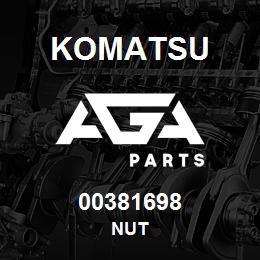 00381698 Komatsu NUT | AGA Parts