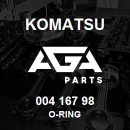 004 167 98 Komatsu O-ring | AGA Parts