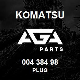 004 384 98 Komatsu Plug | AGA Parts