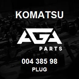 004 385 98 Komatsu Plug | AGA Parts