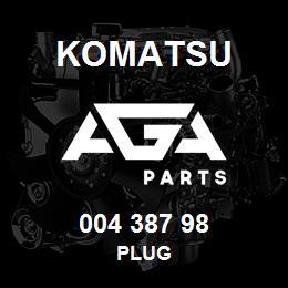 004 387 98 Komatsu Plug | AGA Parts
