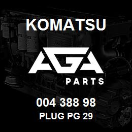 004 388 98 Komatsu Plug PG 29 | AGA Parts