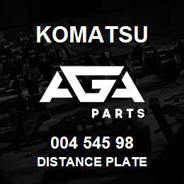 004 545 98 Komatsu Distance plate | AGA Parts