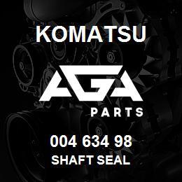 004 634 98 Komatsu Shaft seal | AGA Parts