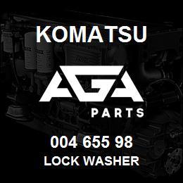 004 655 98 Komatsu Lock washer | AGA Parts