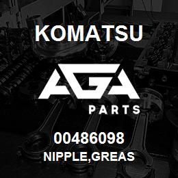 00486098 Komatsu NIPPLE,GREAS | AGA Parts