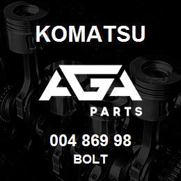 004 869 98 Komatsu Bolt | AGA Parts