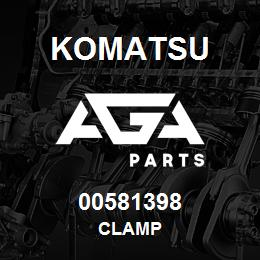 00581398 Komatsu CLAMP   AGA Parts