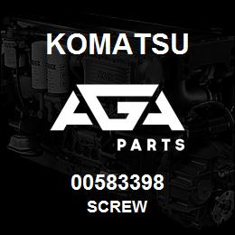 00583398 Komatsu SCREW | AGA Parts