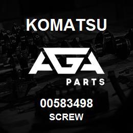 00583498 Komatsu SCREW | AGA Parts
