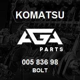005 836 98 Komatsu Bolt | AGA Parts