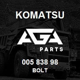005 838 98 Komatsu Bolt | AGA Parts