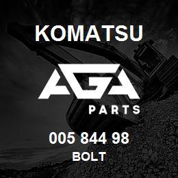 005 844 98 Komatsu Bolt | AGA Parts
