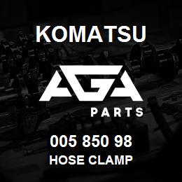005 850 98 Komatsu Hose clamp | AGA Parts
