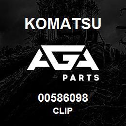 00586098 Komatsu CLIP | AGA Parts