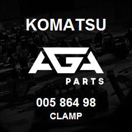 005 864 98 Komatsu Clamp   AGA Parts
