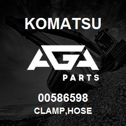 00586598 Komatsu CLAMP,HOSE | AGA Parts