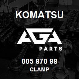 005 870 98 Komatsu Clamp | AGA Parts