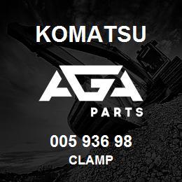 005 936 98 Komatsu Clamp | AGA Parts