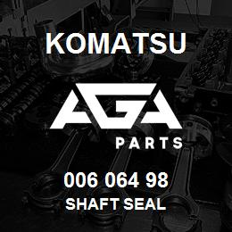 006 064 98 Komatsu Shaft seal | AGA Parts