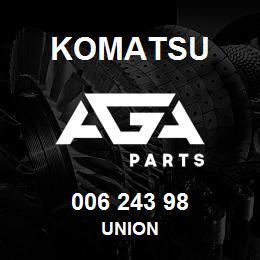 006 243 98 Komatsu Union   AGA Parts