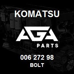 006 272 98 Komatsu Bolt | AGA Parts