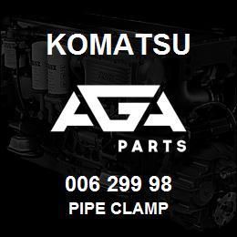 006 299 98 Komatsu Pipe clamp | AGA Parts