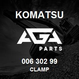 006 302 99 Komatsu Clamp | AGA Parts