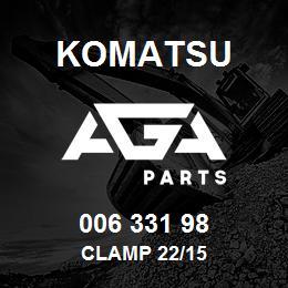 006 331 98 Komatsu Clamp 22/15 | AGA Parts