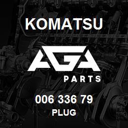 006 336 79 Komatsu Plug | AGA Parts