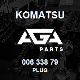 006 338 79 Komatsu Plug | AGA Parts
