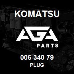 006 340 79 Komatsu Plug | AGA Parts
