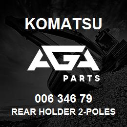 006 346 79 Komatsu Rear holder 2-poles   AGA Parts