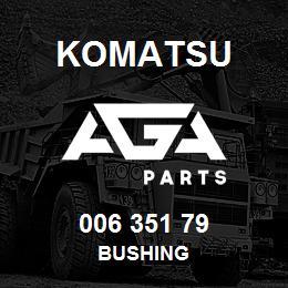 006 351 79 Komatsu Bushing | AGA Parts