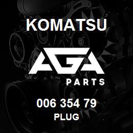 006 354 79 Komatsu Plug | AGA Parts