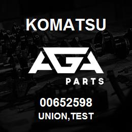 00652598 Komatsu UNION,TEST | AGA Parts