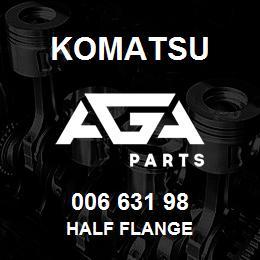 006 631 98 Komatsu Half flange | AGA Parts