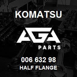 006 632 98 Komatsu Half flange | AGA Parts