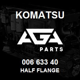006 633 40 Komatsu Half flange | AGA Parts