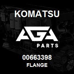 00663398 Komatsu FLANGE | AGA Parts