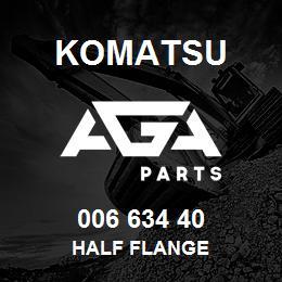 006 634 40 Komatsu Half flange | AGA Parts