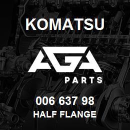 006 637 98 Komatsu Half flange | AGA Parts