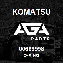 00669998 Komatsu O-RING   AGA Parts