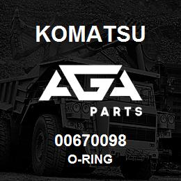 00670098 Komatsu O-RING   AGA Parts